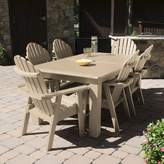 "Sol 72 Outdoor Anette 7 Piece Dining Set Sol 72 Outdoor Color: Tuscan Taupe, Table Size: 30"" H x 72"" W x 42"" D"