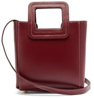 STAUD Shirley Mini Leather Bag - Womens - Dark Red