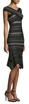 Herve Leger Crochet Flutter-Hem Bandage Dress
