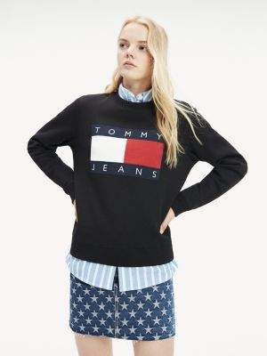 Tommy Hilfiger Tommy Flag Cropped Sweatshirt