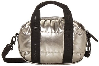 Le Sport Sac Amanda Micro Mini Crossbody (Silver Patent) Handbags