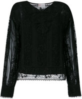 RED Valentino lace style sheer blouse