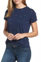 Lucky Brand Women's Embroidered Crewneck Tee