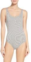 Women's Olympia Theodora Stripe Thong Bodysuit