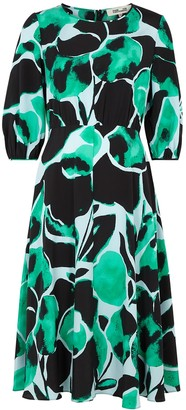 Diane von Furstenberg Bliss printed silk crepe de chine midi dress