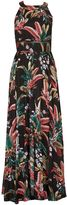 Izabel London Leaf Print Maxi Dress