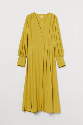 H&M Calf-length Dress - Yellow