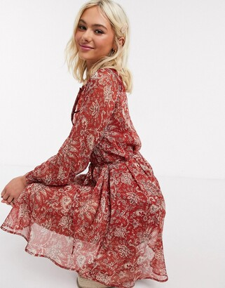 French Connection paisley printed mini dress