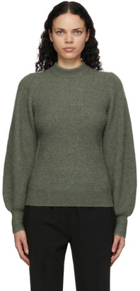 Ganni Green Wool and Alpaca Sweater