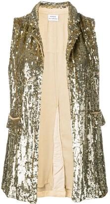 P.A.R.O.S.H. embellished draped waistcoat.