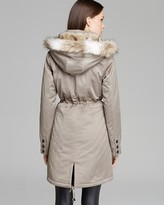 Laundry by Shelli Segal Coat - Faux Fur Trim Anorak