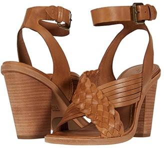 Frye Sara Crisscross Sandal (Tan Polished Soft Full Grain) Women's Shoes