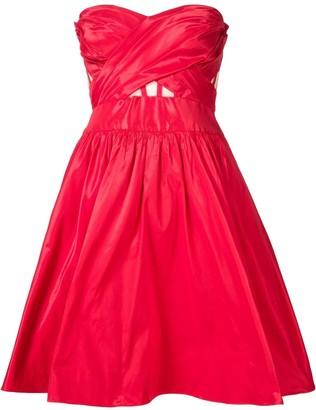 Marchesa Strapless Cocktail Dress