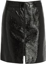 Courreges Faux patent-leather skirt