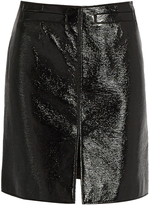 Courreges Patent faux-leather skirt