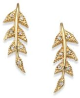 Mizuki Sea of Beauty Diamond & 14K Yellow Gold Branchlet Earrings