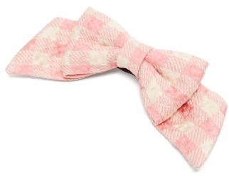 Emilia Wickstead Mayfair Bow Checked Twill Hair Clip - Pink
