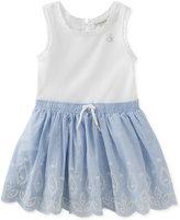 Calvin Klein Embroidered Denim Cotton Tank Dress, Baby Girls (0-24 Months)