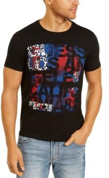 GUESS Men's Modern Art Logo T-Shirt