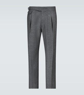 Alexander McQueen Military peg leg pants