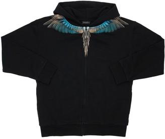 Marcelo Burlon County of Milan Wings Zip-up Cotton Sweatshirt Hoodie