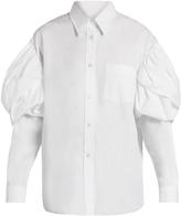 Simone Rocha Puff-shoulder cotton-poplin shirt