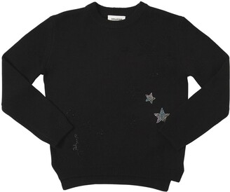 Zadig & Voltaire Embellished Wool Blend Knit Sweater