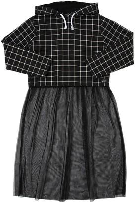 Cotton Sweatshirt Top & Tulle Skirt