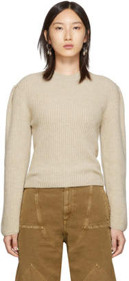 Lemaire Beige Puffy Sleeves Sweater