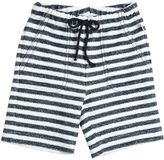 Il Gufo Striped French Terrycloth Cotton Shorts