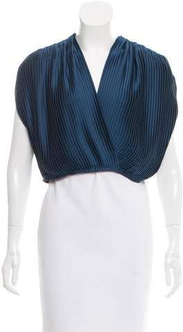 Tome Pleated Wrap Top w/ Tags