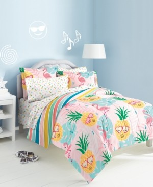 Dream Factory Pineapple Twin Bed-in-a-Bag Bedding