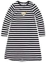 Steiff Girls 0006578 Nightdress 1/1 Striped Long Sleeve Top,(Manufacturer Size:110)