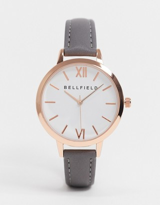 Brave Soul grey watch with rose gold detail
