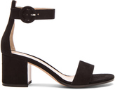 Gianvito Rossi Ankle Strap Suede Heels