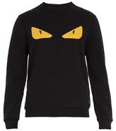 Fendi Bag Bugs-appliqué Cotton-jersey Sweatshirt