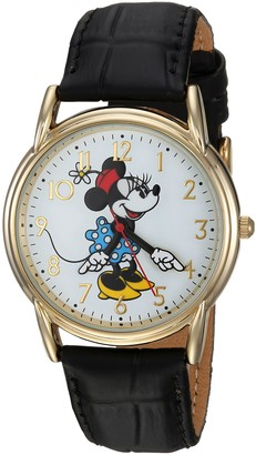 Disney Women's Minnie Mouse Analog-Quartz Watch with Leather-Synthetic Strap