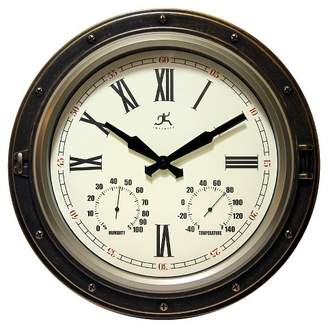 Infinity Instruments Forecaster Decorative Wall Clock Bronze