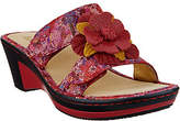 Alegria Leather Wedge Sandals w/Flower Detail- Lana