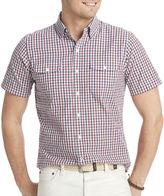 Izod Short-Sleeve Plaid Shirt