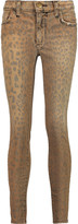 Current/Elliott The Highwaist Stiletto high-rise leopard-print skinny jeans