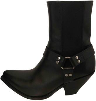 Celine Berlin Black Leather Ankle boots