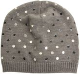 N°21 N° 21 Grey Beanie With Mirrored Pois