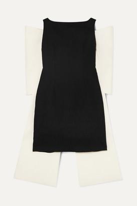 Emilia Wickstead Cruz Bow-embellished Cloque Mini Dress - Black