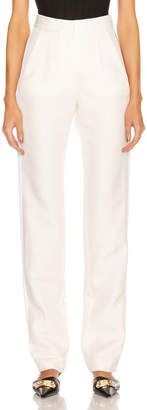 Stella McCartney Mikado Wool Trouser in Winter White | FWRD