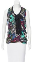 Lanvin Rose Print Sleeveless Tunic