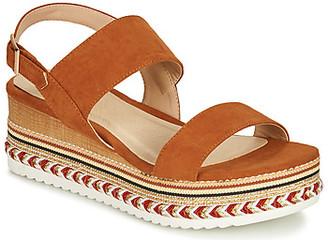 Elue par nous GORETTE women's Sandals in Brown