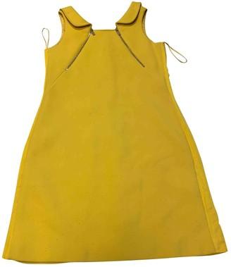 Michael Kors Yellow Wool Dresses