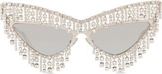 Dolce & Gabbana Eyewear Crystal-Embellished Cat-Eye Sunglasses