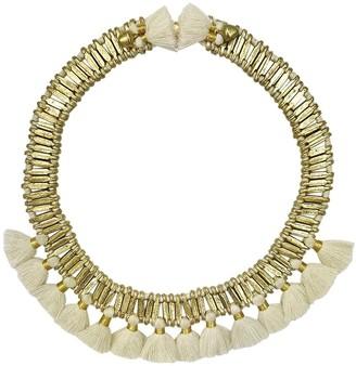 Slate & Salt Temple Tassel Collar Necklace